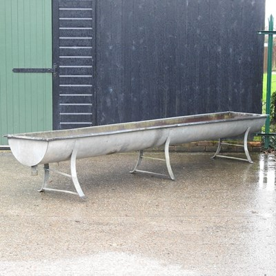 Lot 7 - A galvanised feed trough
