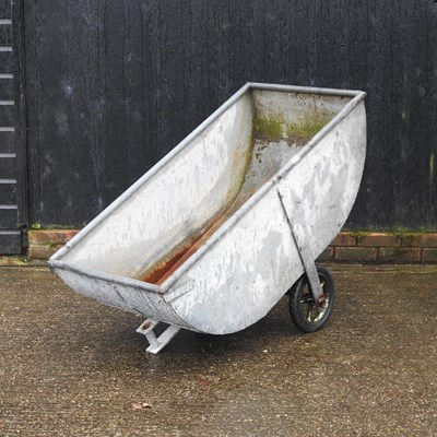 Lot 15 - A galvanised water barrow