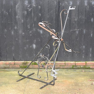 Lot 3 - A black painted wrought iron weather vane