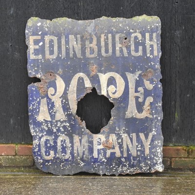 Lot 2 - A vintage enamel sign