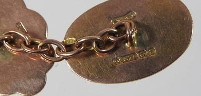 Lot 30 - A pair of 9 carat gold cufflinks