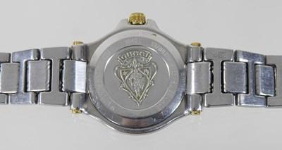 Lot 2 - A Gucci bi-metal ladies wristwatch