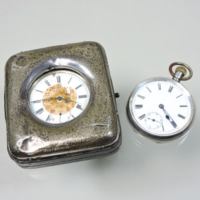 Lot 20 - A silver open faced pocket watch