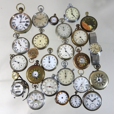 Lot 60 - A collection of pocket watches