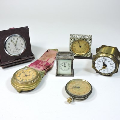 Lot 37 - An early 20th century American miniature carriage clock