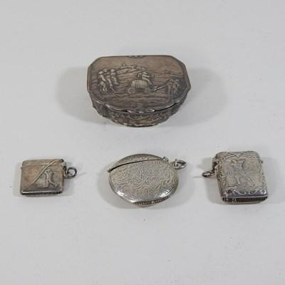 Lot 59 - A silver vesta case