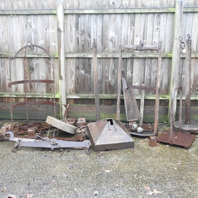 Lot 9 - A collection of 19th century and later antique iron scales