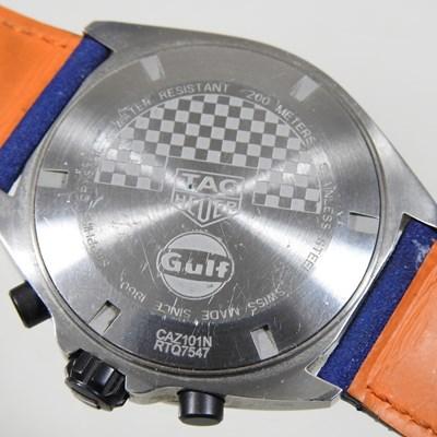 Lot 28 - A modern Tag Heuer gentleman's Formula 1 Gulf chronometer wristwatch