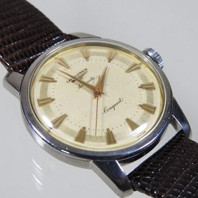 Lot 61 - A 1950's Longines Conquest steel cased gentleman's wristwatch