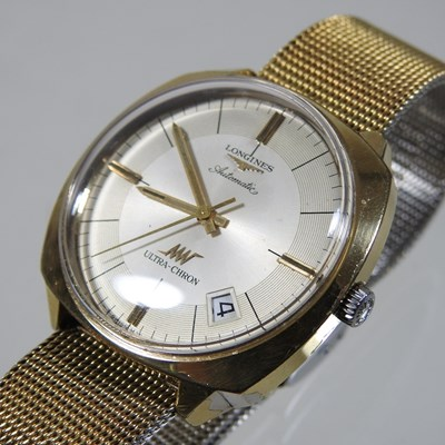 Lot 39 - A 1950's Longines gold plated Ultra=Chron automatic gentleman's wristwatch