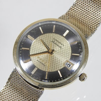 Lot 13 - A 1960's Longines Admiral gold plated automatic gentleman's wristwatch