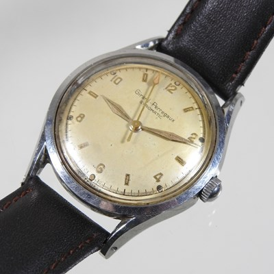 Lot 18 - A mid 20th century Girard-Perregaux steel cased vintage gentleman's wristwatch