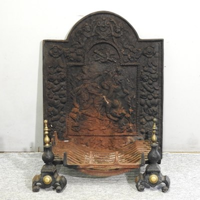 Lot 31 - A cast iron fire back