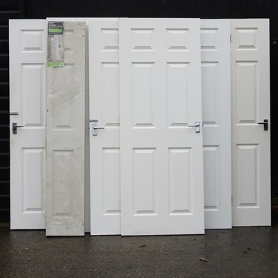 Lot 25 - A collection of white painted interior doors