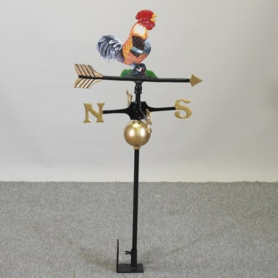 Lot 37 - A metal cockerel weather vane