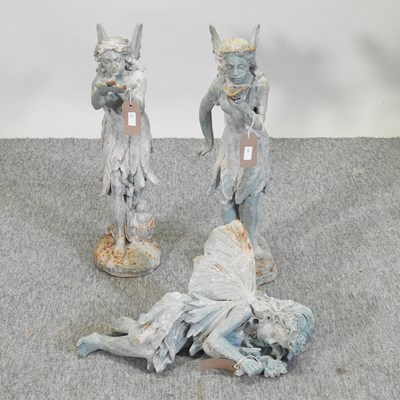 Lot 38 - A metal garden model of a fairy