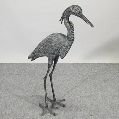 Lot 40 - A metal garden model of a heron